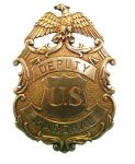 Eagle Gold Deputy United States Marshal Badge